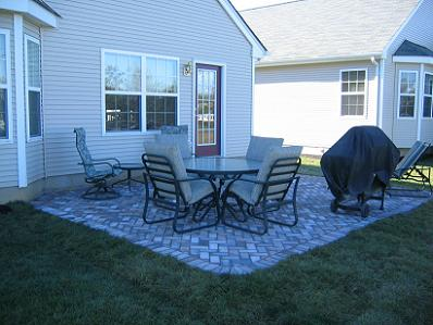 Harvest and Dakota Blend Brickstone, 45 degree Herringbone Pattern