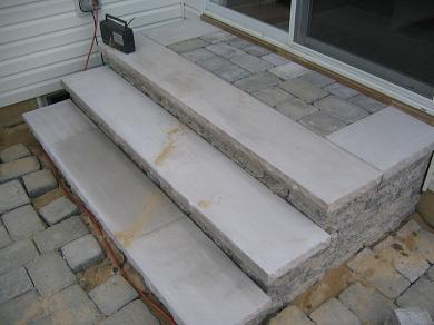 EP Henry Pewter Blend Covenrty Wall Steps With Limestone Treads