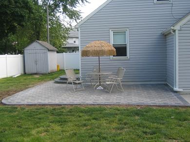Ace Paver EP Henry Symetry Pewter Blend Patio Over Concrete - Ep henry patio