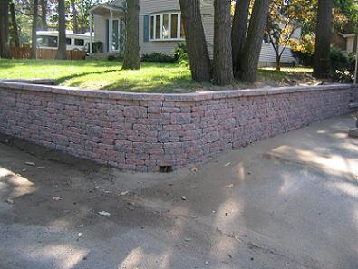 Retaining Wall with Built in Drainage