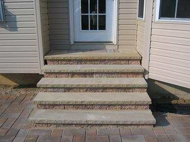 EP Henry Harvest Blend Terrace Wall Step With Siota Treads